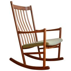 Hans Wegner Rocking Chair My Little Pony Table And Chairs Teak At 1stdibs
