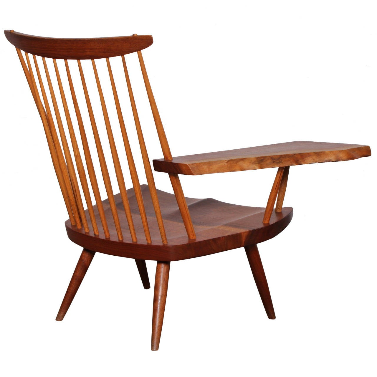 Single Chairs Single Arm Lounge Chair By George Nakashima At 1stdibs