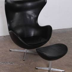 Jacobsen Egg Chair Leather Lumbar Back Pillow For And Ottoman By Arne In Original