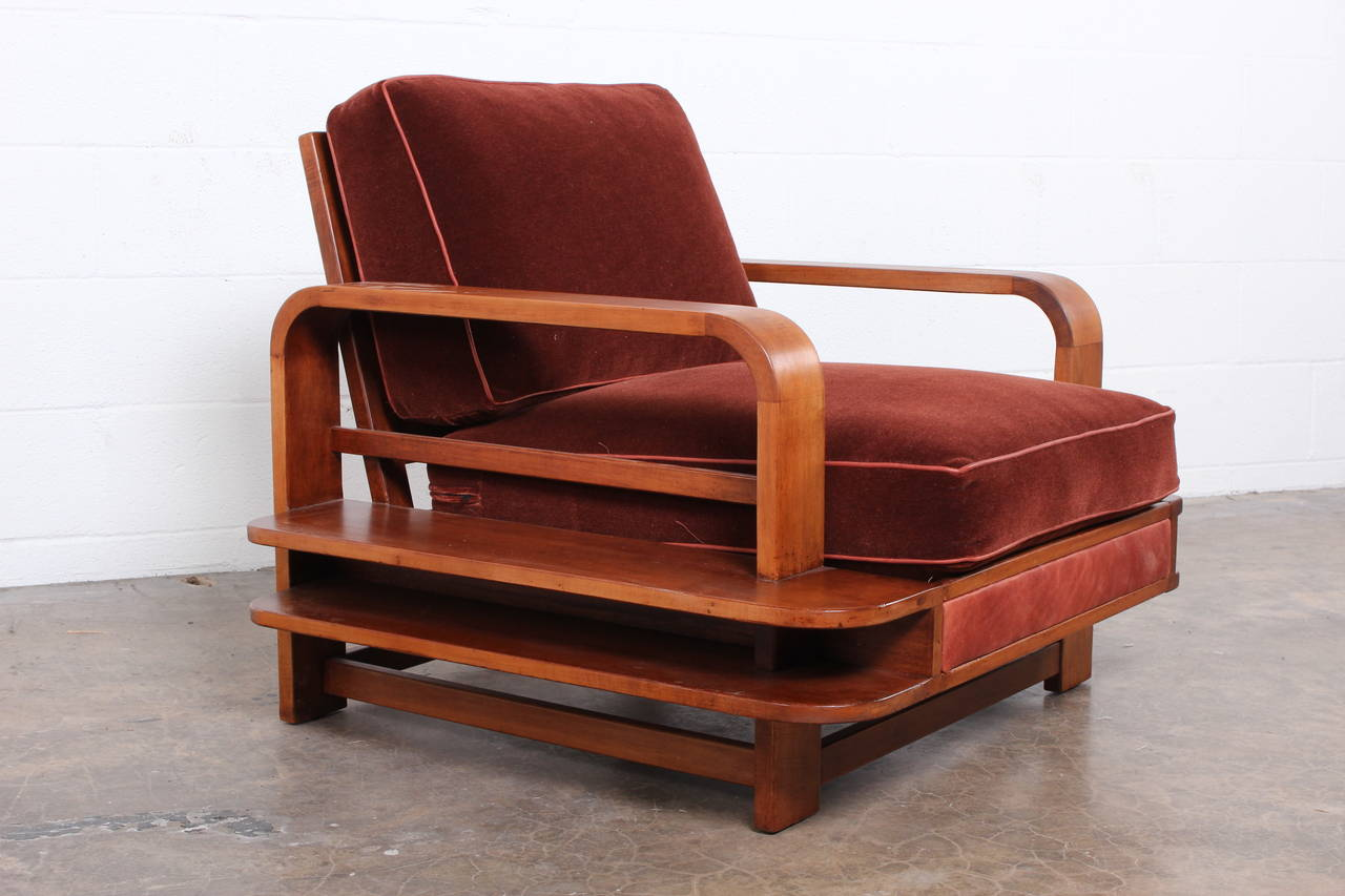Rare Lounge Chair Designed By Russel Wright For Conant
