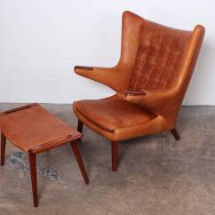 Papa Bear Chair Michael Guineys Covers Leather And Ottoman By Hans Wegner At 1stdibs