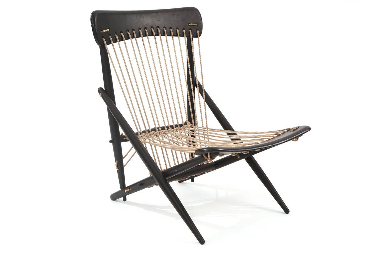 string chair seat paidar barber parts stunning rope by maruni at 1stdibs