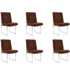Milo Baughman Dining Chairs Best Posture Chair For Computer Thayer Coggin Chrome And Upholstered