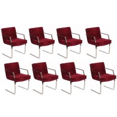Conference Chairs For Sale Red Desk Chair Ikea Eight Cantilevered Steel And Upholstered Dining Or