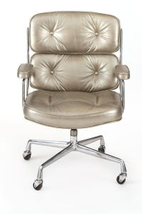 Silver Leather Eames for Herman Miller Time Life Office ...