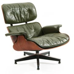 Green Lounge Chair Upholstered Dining Chairs Early Eames Leather And Rosewood