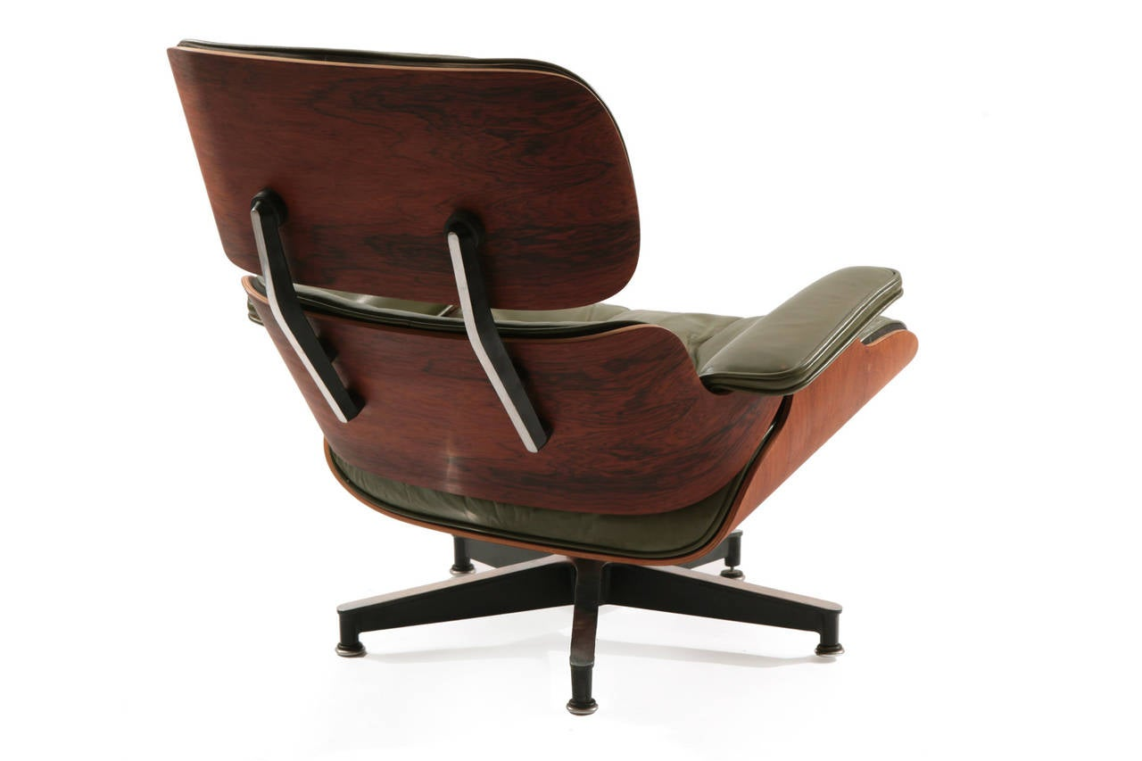 green lounge chair best for nursing early eames leather and rosewood
