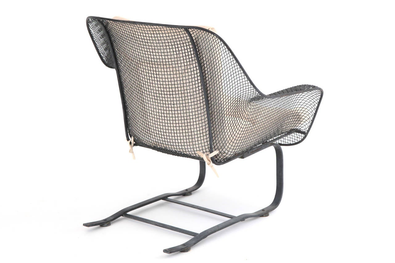 Mesh Lounge Chair Four Large Scale Woodard Mesh Lounge Chairs And Ottomans