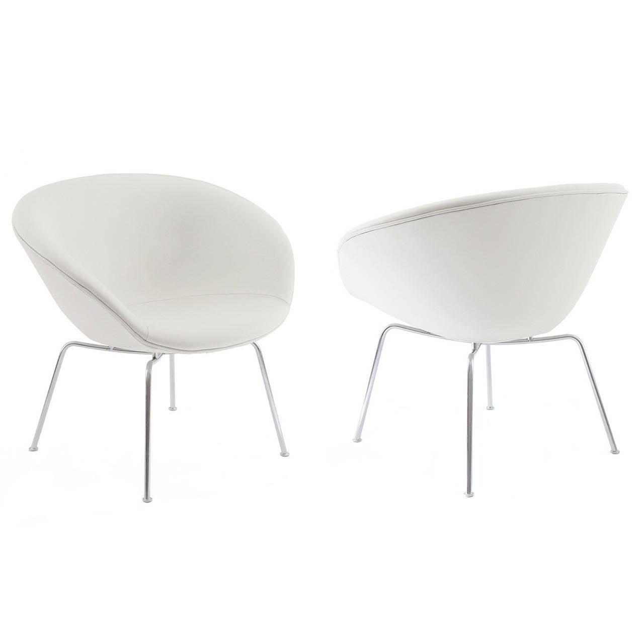 white leather chairs for sale realspace fosner high back bonded chair pair of arne jacobsen pot at