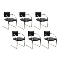 Wonderful Cantilevered Chrome and Leather Chairs at 1stdibs