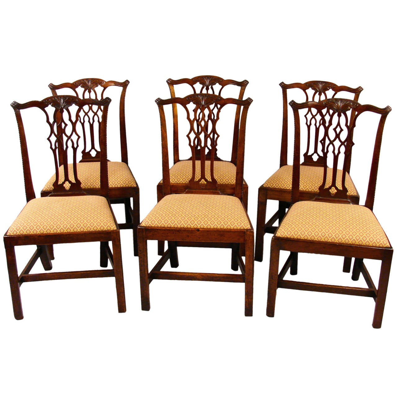 chippendale dining chair bergere chairs eight mahogany at 1stdibs