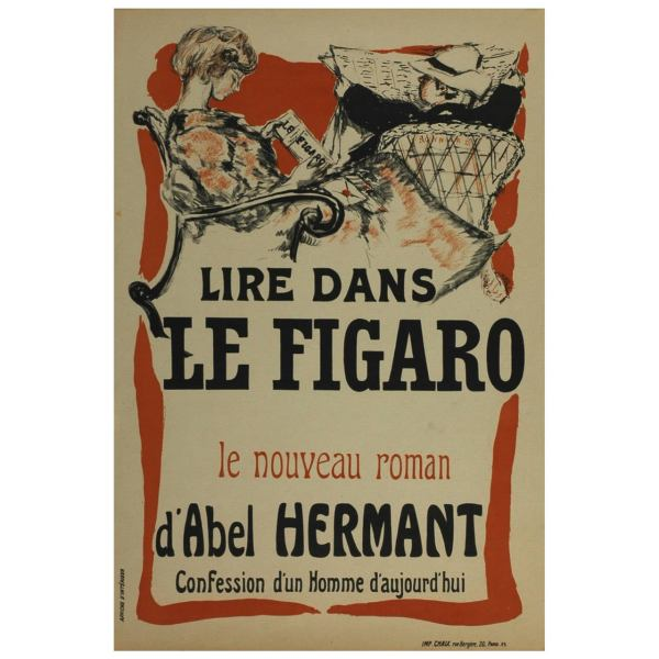 Pierre Bonnard Original Poster Le Figaro French