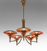 Poul Henningsen, A Rare Copper Shade PH Anchor Chandelier ...