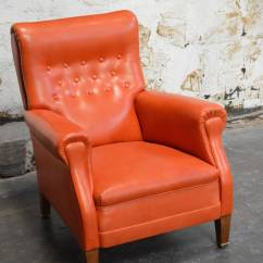 Swedish Leather Recliner Chairs Chair Cover Depot Reviews Vintage Orange Lounge At 1stdibs