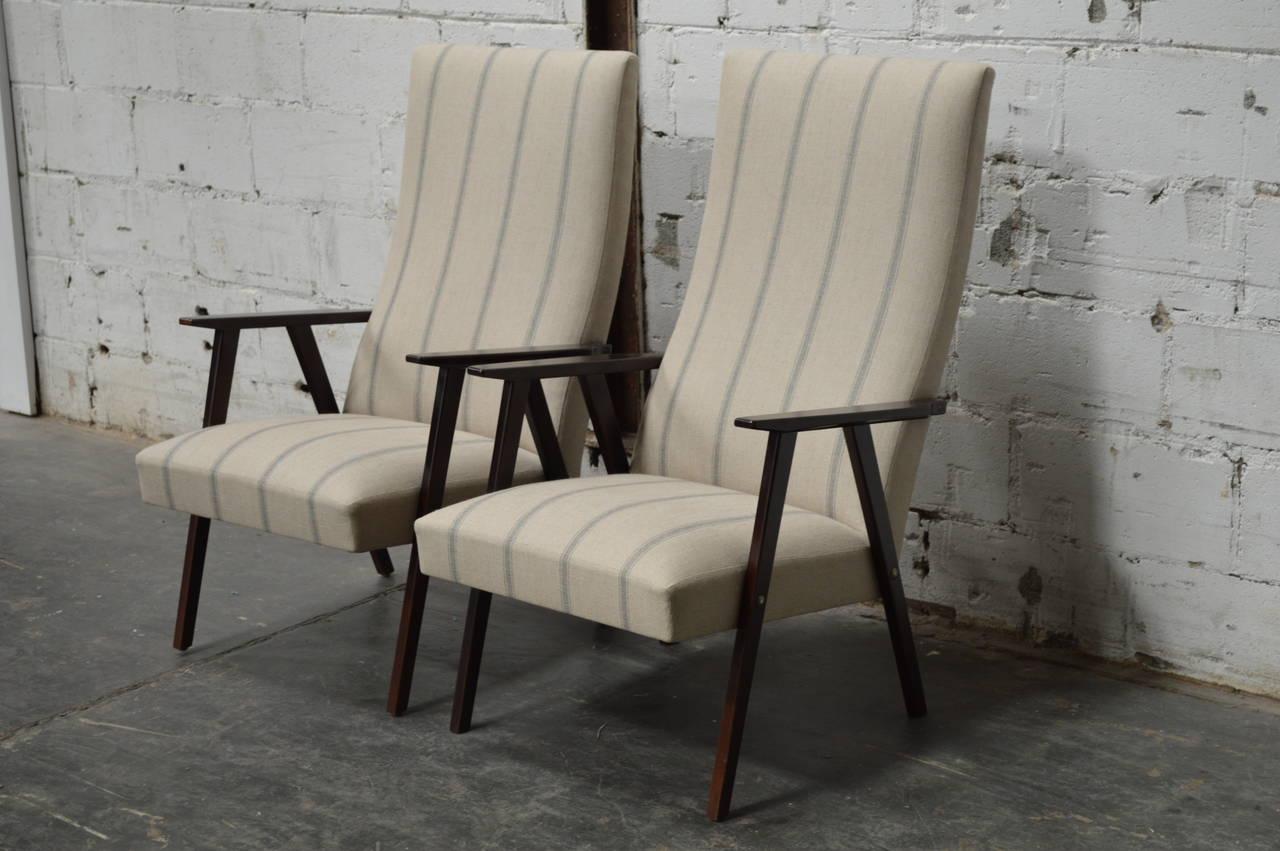swedish high chair training chairs price pair of mid century modern back lounge