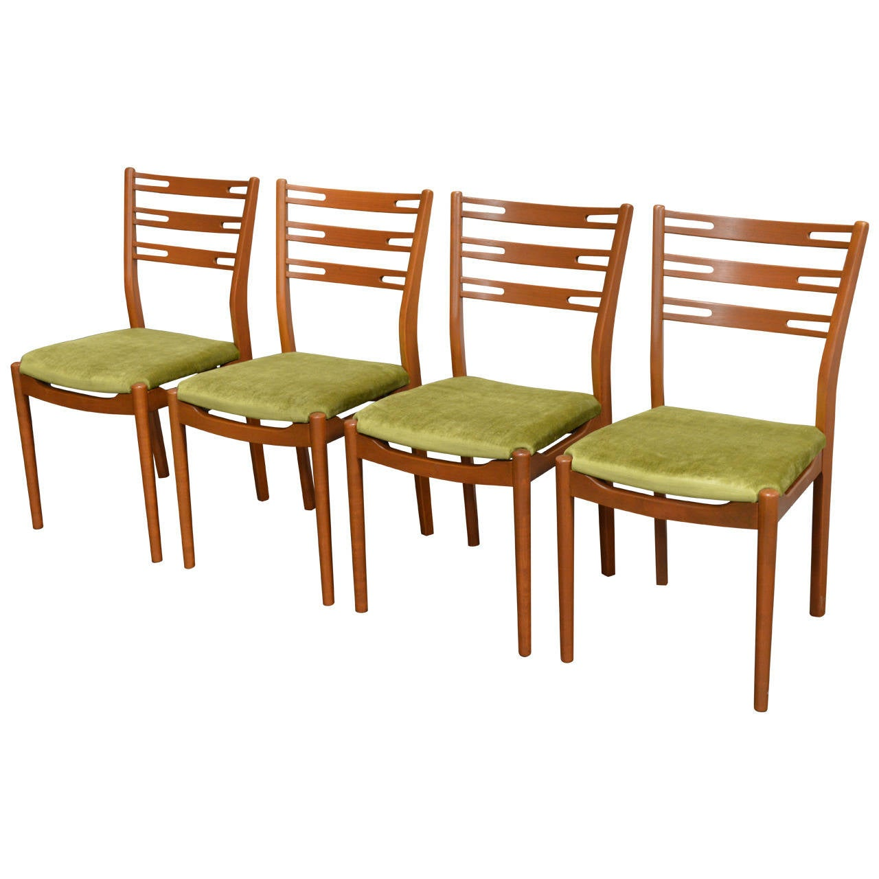 Mid Century Dining Chair Set Of Four Swedish Mid Century Modern Teak Dining Chairs