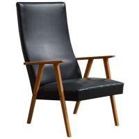 Swedish Mid-Century Modern High Back Lounge Armchair at ...