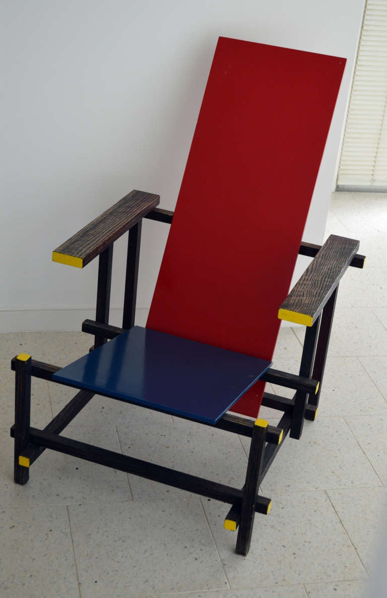 gerrit rietveld crate chair classroom stacking chairs *sale* vintage red and blue modernist in the manner of for sale at 1stdibs