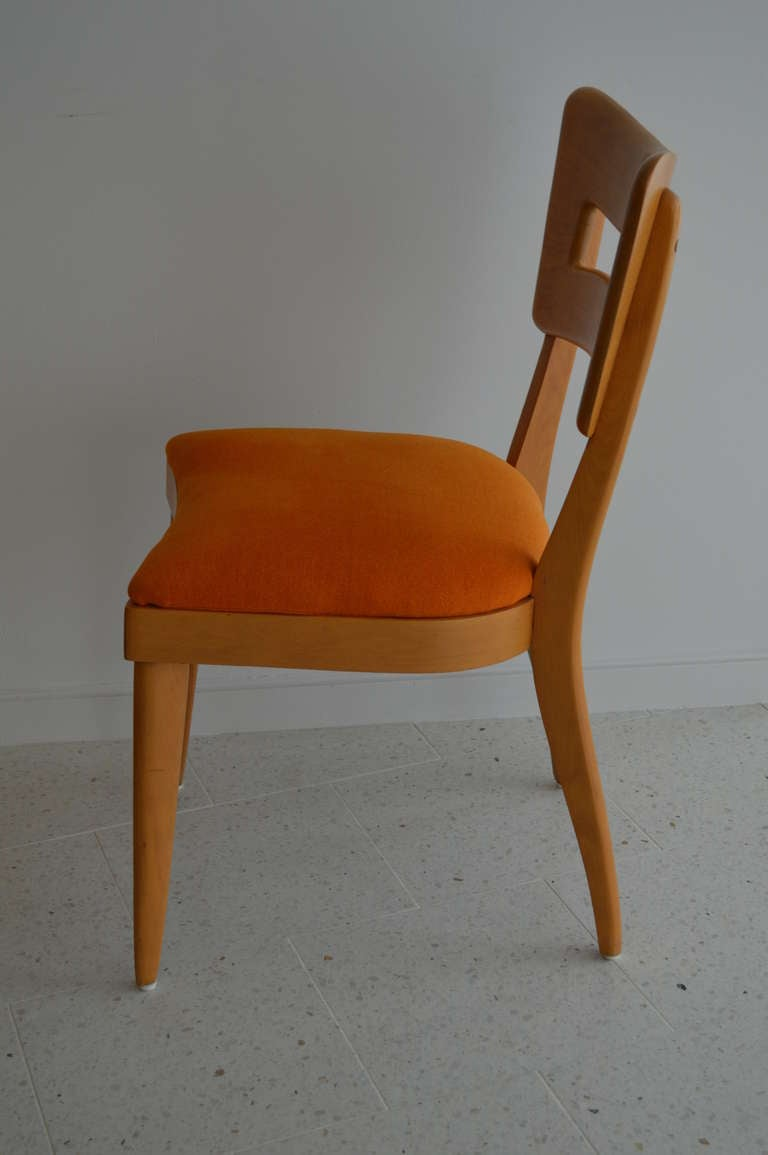 heywood wakefield dogbone chairs rocker recliner *sale* wishbone dining table with 8 for sale at 1stdibs