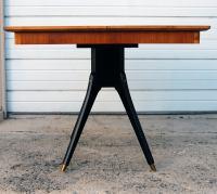 Swedish Mid-Century Teak Pedestal Square Dining Table at ...
