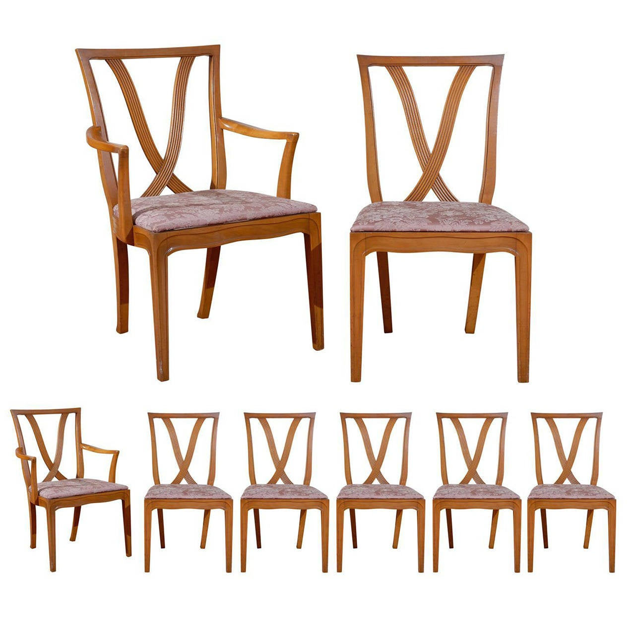 set of 8 dining chairs chair steel price beautiful quot x back by tomlinson