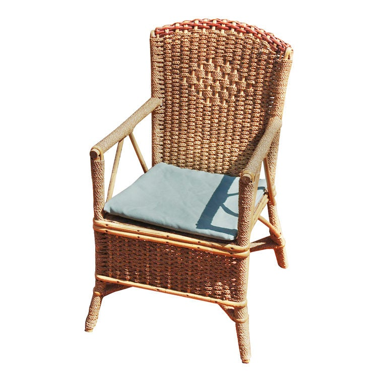 antique high back wicker chairs klismos fabric side chair early 20th century american child's armchair at 1stdibs