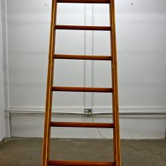 Giant Folding Chair Banquet Covers Rental Beautifully Handcrafted Wooden Ladder For Sale At 1stdibs
