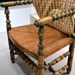 Spindle Arm Chair Mid Century Cane Barrel Country French At 1stdibs