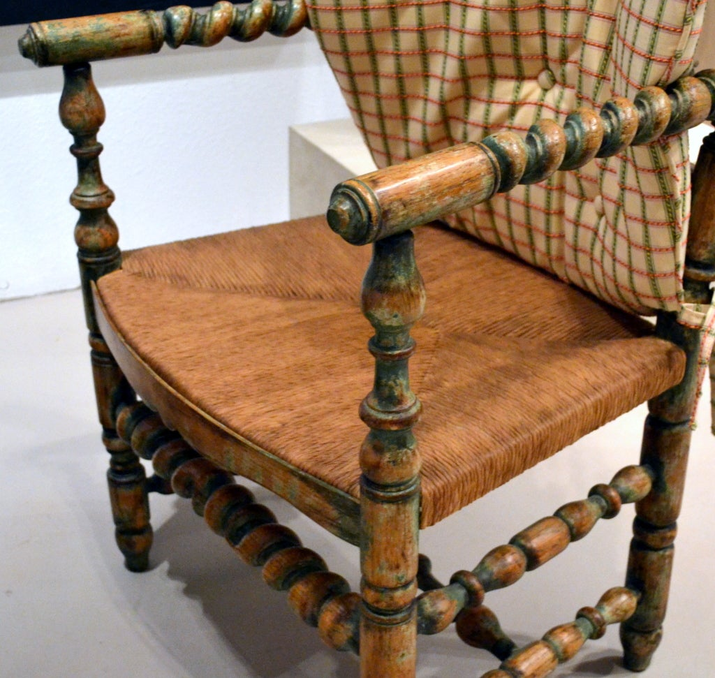 Spindle Arm Chair Country French Spindle Arm Chair At 1stdibs