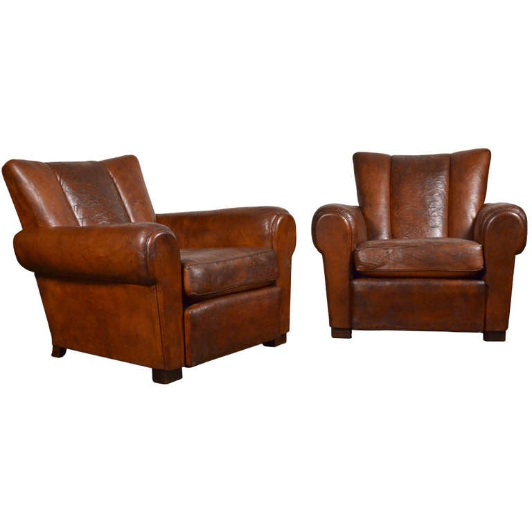 art deco club chairs leather pictures of french vintage at 1stdibs