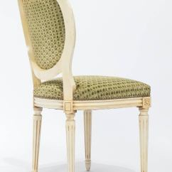 French Cane Back Dining Chairs Modern Barrel Chair Louis Xvi Medallion Set Of Six At 1stdibs