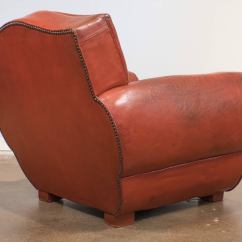 Red Club Chair Outdoor Cushions Bunnings Superb French Vintage Leather At 1stdibs