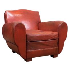 French Club Chairs For Sale Chair Covers Outdoor Setting Superb Vintage Red Leather At 1stdibs