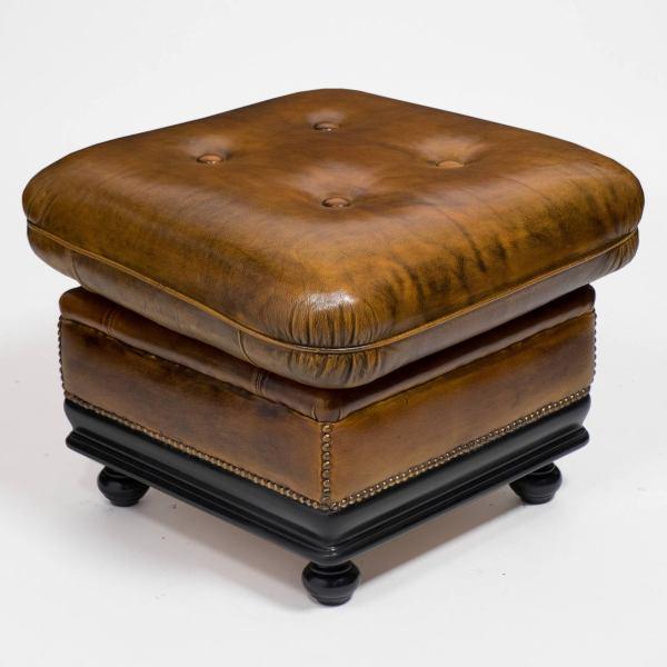 Vintage Leather Ottomans