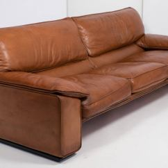 Classic Italian Leather Sofa American Sleeper Mattress Pad Superb Vintage By Ferrucio Brunati At