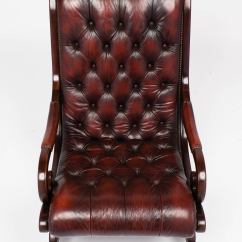 Rocking Chair Leather And Wood Desk Chairs Cheap French Vintage Tufted Mahogany