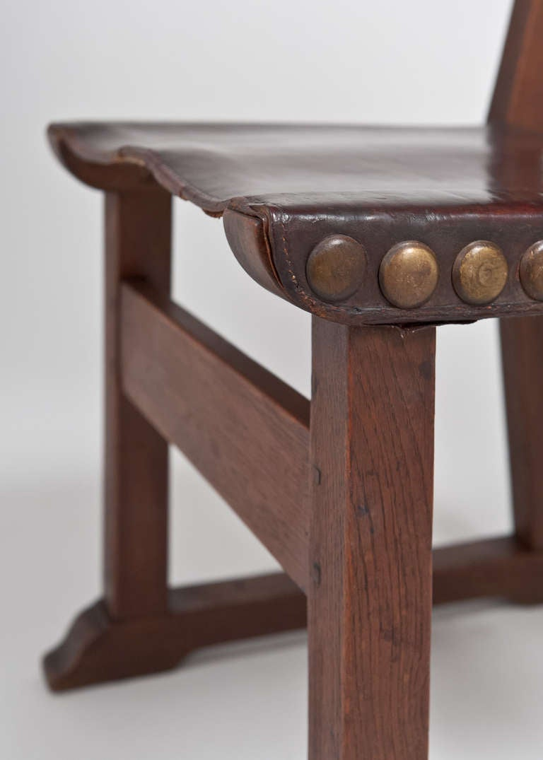 French Renaissance Leather Side Chairs At 1stdibs