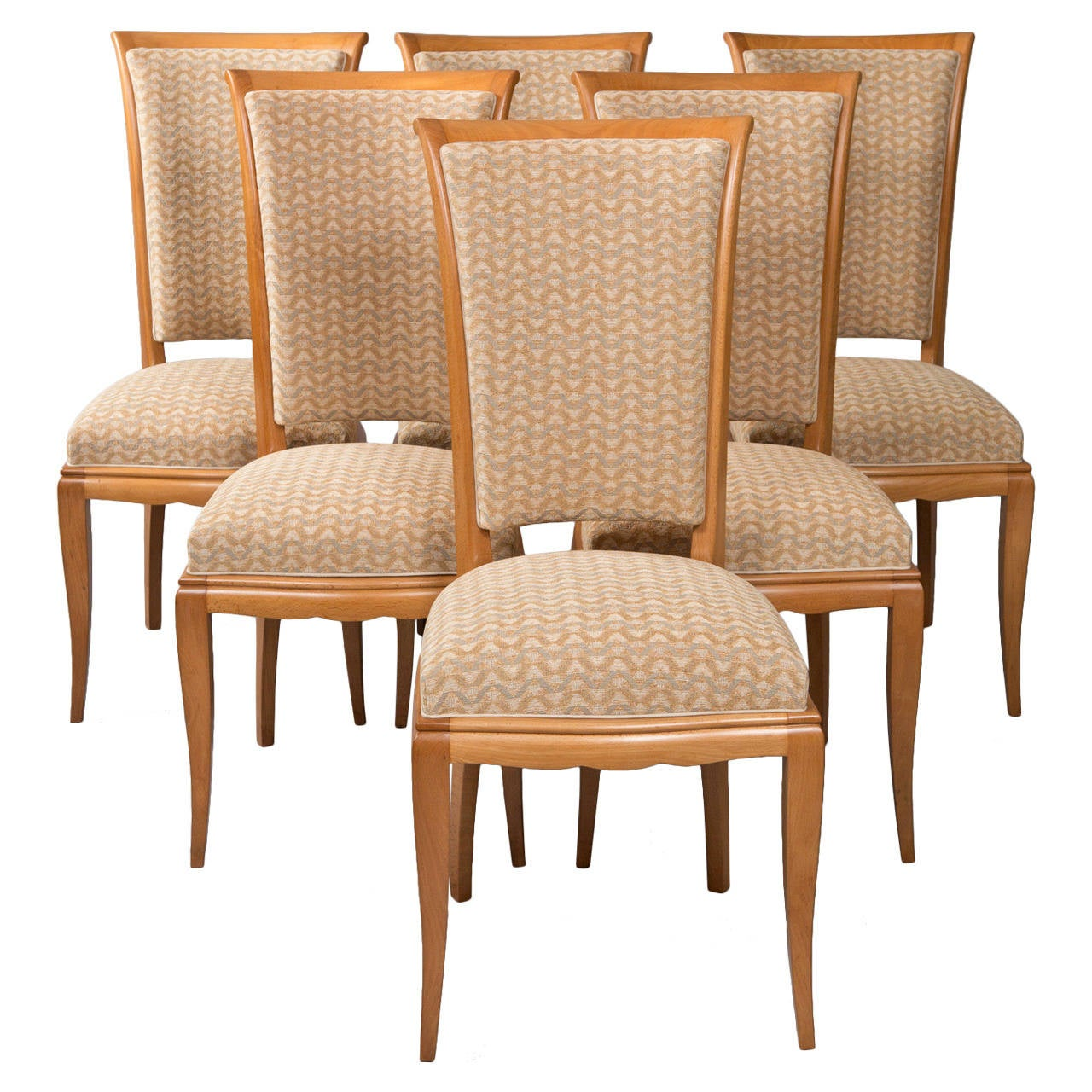 set of six dining chairs for sale wood rocking outdoor deco at 1stdibs