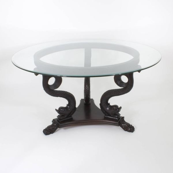Neoclassical Style Dolphin Center Dining Table 1stdibs