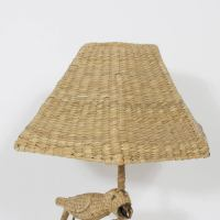 Mario Torres Wicker Table Lamp at 1stdibs