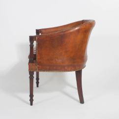 Tub Chair Brown Leather Ercol Bedroom Pair Of Classic Chairs At 1stdibs
