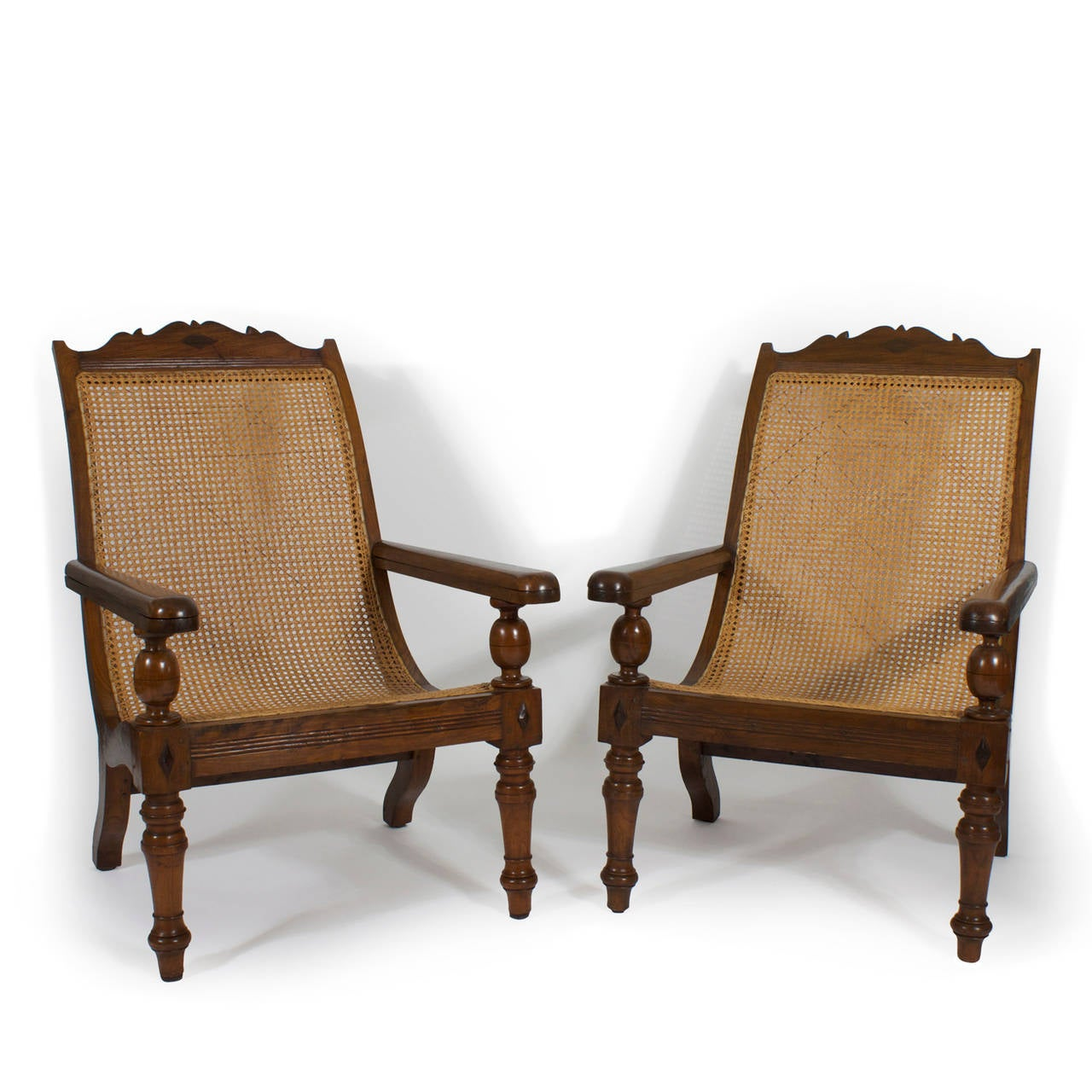 Colonial Chair Pair Of British Colonial Planters Or Plantation Chairs At
