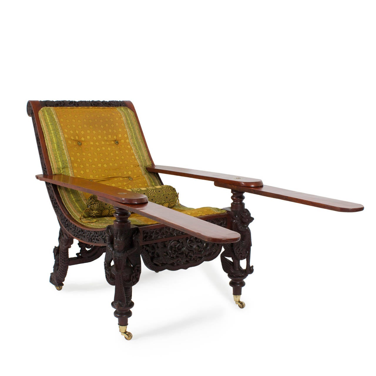 chair with leg rest india ergonomic store 19th century anglo indian carved plantation or planters for a rare british colonial expertly tropical hard