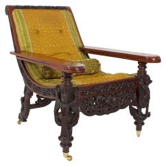 Office Recliner Chair India Beige Accent Canada 19th Century Anglo Indian Carved Plantation Or Planters