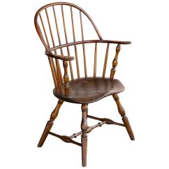 Early American Chair Styles Chairs For Handicapped Vintage Sack Back Windsor Armchair At 1stdibs