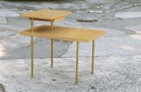 Harvey Probber Two-Tier End Table With Inset Drawer at 1stdibs
