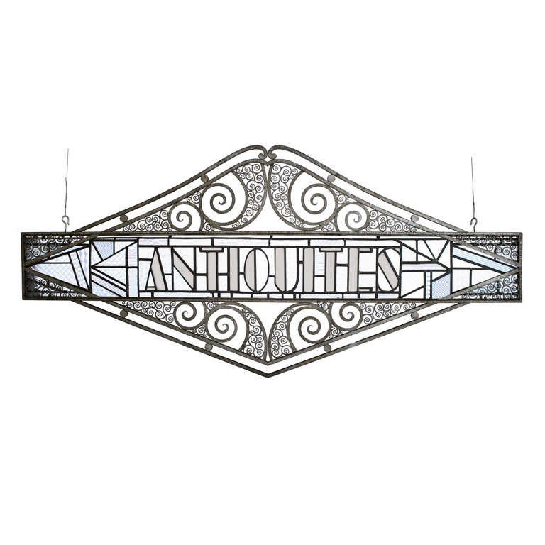 Art Deco Antique Sign at 1stdibs