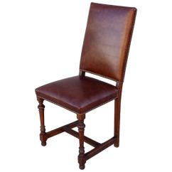 Leather Side Chair Most Comfortable Folding Chairs 1920s Tall For Sale At 1stdibs