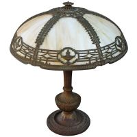 Turn of the Century Slag Glass Table Lamp at 1stdibs