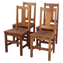 Set Of 4 Chairs Best Ergonomic Executive Office Chair Four Signed Arts And Crafts Limbert At 1stdibs